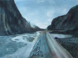 painting of coming_back_from_fox_glacier
