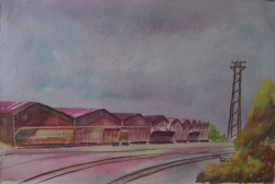 painting of 28_a_reduction_of_roofs_ii_warehouses