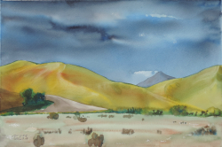 painting of Canterbury Hills