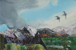 painting of Feathered Friends (Hooker Valley)