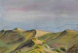 painting of Foxton Dunes At Sunset