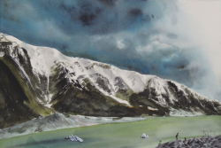 painting of Glacier Lake (Hooker Valley)