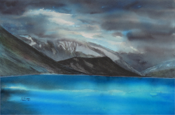 painting of Glacier Waters Are An Impossible Blue