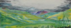 painting of Lindis Pass i