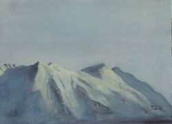 painting of On A Clear Day, You Can see Ruapehu