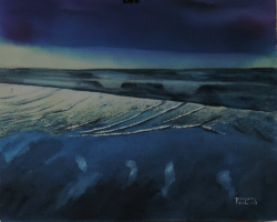 painting of foxton_beach_low_water_iv
