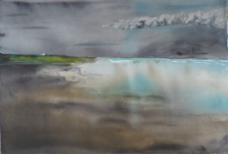 painting of foxton_beach_low_water_v