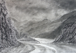 painting of from_the_a87_looking_towards_sgurr_a_mhaoraich