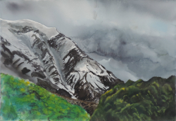 painting of light_on_the_southern_alps