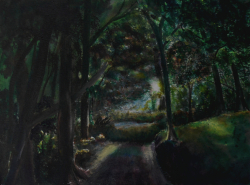 painting of mt_lees_garden_at_sunset