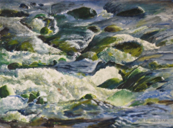 painting of rocks_in_the_river_oroua_river_2