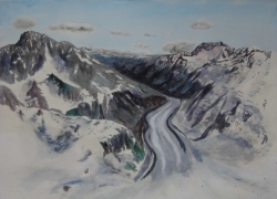 painting of tasman_glacier_from_the_air_1