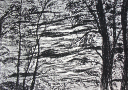 painting of the_wye_through_trees