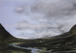 painting of valley_in_the_highlands
